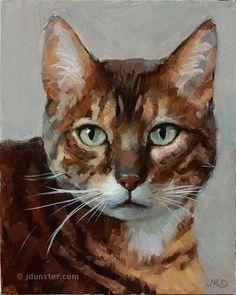 "Daily Paintworks - ""Zorn Cat"" - Original Fine Art for Sale - © J. Dunster"