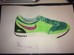 Mijn nieuwe positieve logo van Nike -> Like met de slogan They Like it omdat de mensen van het merk houden en de naam van het merk  er in zit