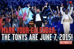 Mark your calendars: The Tony Awards are honoring the best of Broadway on June 7, 2015! While we wait, what are your #top10 Tony performances? Tell us at http://10li.st/1hNLAt3