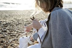 Get your knit on! GANG SERIES I Super Mom Alexis knitting on Brighton Beach #woolandthegang
