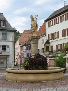 Thann fontaine Saint Thiébaut. Thann is a French city located in the department of Haut-Rhin and the Alsace region . the town of Thann is the chief town of the district. Its inhabitants are called Thannois and Thannoises.