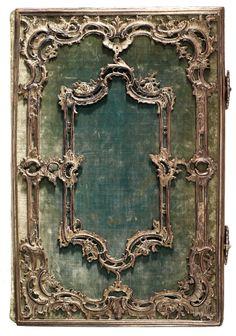 Staatsbibliothek Bamberg: Einbände Samteinband mit Rokoko-Silberbeschlag (um 1760)