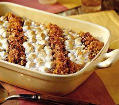 Sweet Potato Casserole: Mmmmm yum! Not only delicious, but pretty too