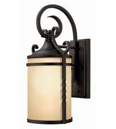 Hinkley Lighting Casa 1 Light Outdoor Wall Lantern in Olde Black 1140OL