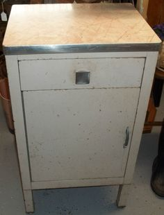 Antique Steel Kitchen Island Metal Tool Cabinet Cart Table Box Vtg Storage With Style Pinterest Cabinets And