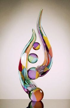 Blown Glass Sculpture by Richard Royal