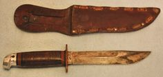 US fighting knife Western shark with scabbard