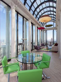 Terrific solarium in an Art Deco era penthouse in San Francisco  thewholehouse:    Awesome.