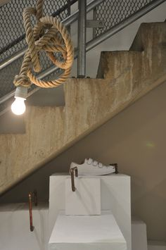 Knotted rope light (from retail design-Dover Street Market)