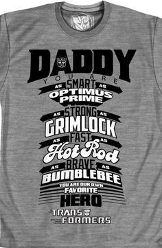 258c14002d2 Transformers Father s Day T-Shirt.this is the best gift ever.