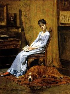 The Artist's Wife and His Setter Dog (c.1884-9 by Thomas Eakins, Metropolitan Museum of Art, New York