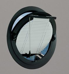 the round window blind and the overhanging round window ledge