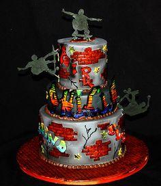 Graffiti/skate cake