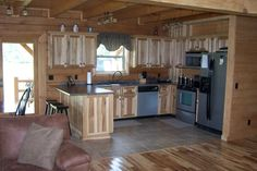 Small log cabin kitchens kitchen ideas cottage plans home rustic tiny Small Cottage Kitchen, Cottage Kitchens, Home Decor Kitchen, Home Kitchens, Kitchen Ideas, Kitchen Pictures, Kitchen Layout, Kitchen Designs, Rustic Cabin Kitchens