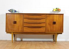 Mid Century Danish Inspired Teak Credenza/ Buffet/ TV Console in the Kofod Style. Retro. Vintage. MCM. British. Mad Men  $1,425.00 USD
