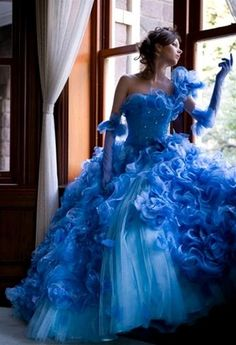 Quinceanera dresses with rolling flowers, 2012 Wonderful Ball gown One Shoulder Floor-length Quinceanera Dresses Style CP337, prom dress