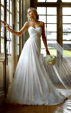 Simple wedding dress ...love the bodice