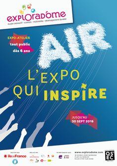 Air, l'expo qui inspire à l'Exploradôme. Affiche