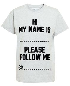 ASHISH X TOPSHOP | 'Follow me @' Cotton T-shirt