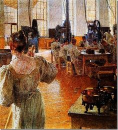 Carl Moll (Austrian artist, 1861-1945) The Coffee Factory 1900