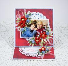 For Grandma and Grandpa Paper Cards, Diy Cards, Card Making Designs, Grandma And Grandpa, Diy And Crafts, Scrap, Happy Birthday, Frame, Flowers