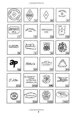 1800 Marks on American Pottery & Porcelain: L-W Publishing: 9780895380401: Amazon.com: Books