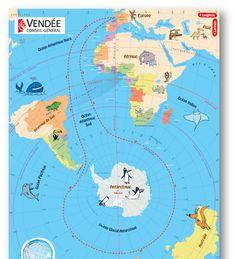 En avant pour l'aventure ! C'est reparti pour une édition du Vendée Globe qui s'annonce riche ! Voici donc le poster du parcours avec la lis...
