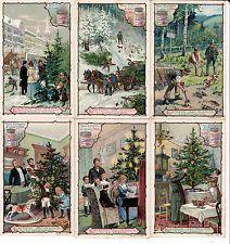 Figurine Liebig - 381-1901 - L'albero di Natale
