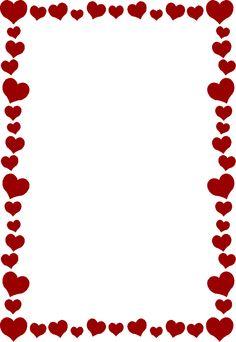 printable red heart border free gif jpg pdf and png downloads at rh pinterest com heart border clip art black and white valentine heart border clip art