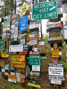 Sign Post Forest, Watson Lake, Yukon Territory | by alohrenz, via Flickr