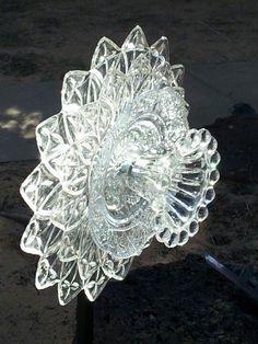 Glass Flower Yard Art by cristina Yard Ideas, Patio Ideas, Courtyard Ideas