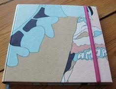 Diario con tela de ropa de Jazmin Chebar. Notebook, Tela, Diaries, Report Cards, Projects, Notebooks, Exercise Book, The Notebook