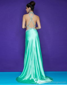 LOVE THIS COLOR Green cris cross back Prom/Evening Dresses