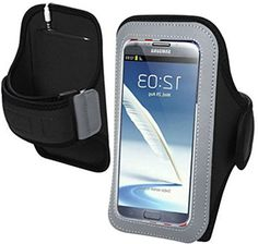 "myLife Dark Diamond Black {Rain Resistant Velcro Secure Running Armband} Dual-Fit Jogging Arm Strap Holder for Samsung Galaxy Note 2 ""All Ports Accessible"" myLife Brand Products http://www.amazon.com/dp/B00TGBTARS/ref=cm_sw_r_pi_dp_G40avb1PZT65K"