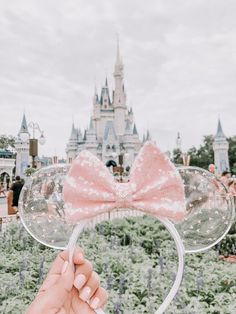 Translucent Disney Minnie Mouse Ears With Sequin Bow Candy Confetti Translucent Disney Minnie Mouse Ears With Sequin Bow Candy Confetti Custom Minnie Ears With Pink Sequin Bow At Magic Kingdom Disney Diy, Deco Disney, Diy Disney Ears, Walt Disney, Punk Disney, Disney Magic, Style Disney, Disney Dream, Magic Kingdom