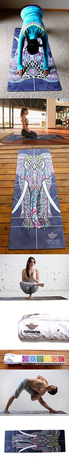 NIRVANA Pro YOGA MAT, Large Yoga Mat , Thick Yoga Mat, Non Slip Yoga Mat, Natural Rubber Yoga Mat, Beautiful Design, Eco Friendly Yoga Mat, Non Toxic Yoga Mat Towel Combo comes with a Yoga Bag. http://whymattress.com/the-ultimate-yoga-guide/