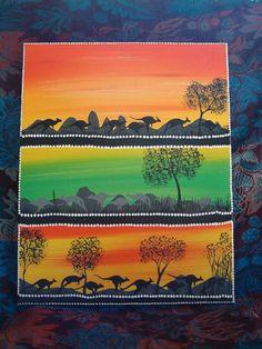 Koopu (Grey Kangaroo) Authentic Aboriginal artworks by David Dunn by andybear… Aboriginal Artwork, Animal Symbolism, Australian Art, Kangaroo, Artworks, Art Pieces, David, Rainbow, Island
