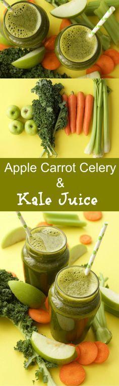 Apple Carrot Celery and Kale Juice