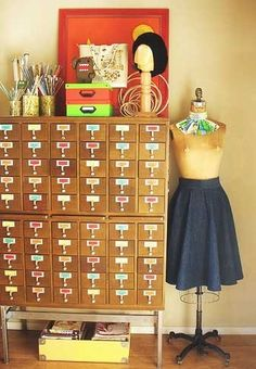 Inspiration Workshop by Gussy Sews >> Organization, with an emphasis on the Craft Room
