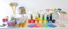 Playful Rainbow Butterfly Princess Party // Hostess with the Mostess® Butterfly Birthday Party, Rainbow Birthday Party, Rainbow Theme, Birthday Parties, Girl Parties, Rainbow Candy, Rainbow Colors, Rainbow Party Decorations, Rainbow Parties