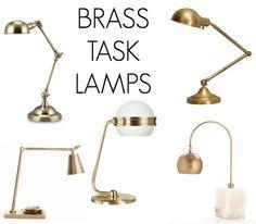 chic brass lamps - the decorista