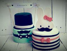 Mustache and miffy cake. Gotta love Nijntje!