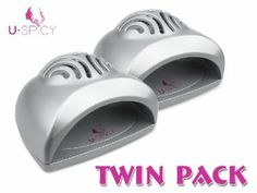 *Twin Pack PROMOTION* USpicy SEASHELL Portable Mini Fan Cute Size Handy Manicure Nail Dryer/Blower for Drying Nail Polish & Acrylic Nail(Silver, pack of 2) by USpicy. $19.99. Dimension: approx. 12cmW x 12.4cmL X 8cmD. Ideal for drying nail Polish, Acrylic Nail. Battery Operated or DC Adaptor, Portable. Brand new in retail package (Individual Packing). Color?Silver. USpicy™ - Fashion Meets Technology USpicy™ was created by a very simple goal - to provide hig...