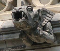 Washington National Cathedral Gargoyles: Downgazing Dragon (56) in Washington, D.C. by John Guarente