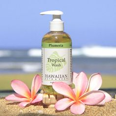 Hawaiian Bath & Body Plumeria Hand & Body Tropical wash gently cleanses & moisturizes. SLS & Paraben free!   :product:name;