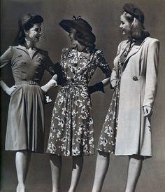 Montgomery Ward dresses, 1940s.