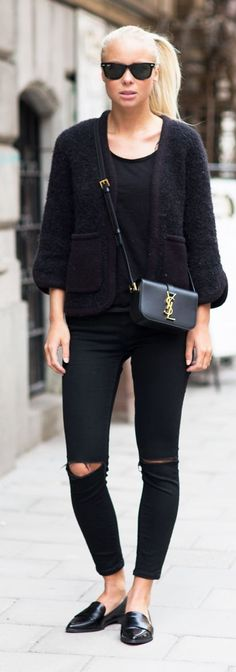 All In Black Outfit Idea