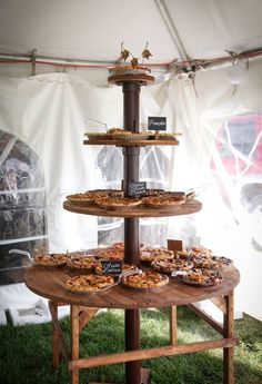 Pie table- wedding