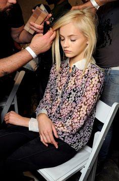 Ginta Lapina #fashion #model #backstage