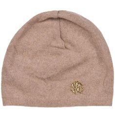 6951071f85507 Roberto Cavalli Womens Light Brown Thin Knit Cashmere Hat